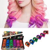 Временная краска для волос 6 цветов