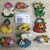 Магнит  шляпа и сумка керамика
