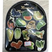 Магнит овощи и фрукты тонкие