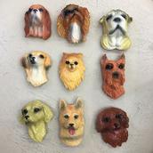Магнит собаки из гибса