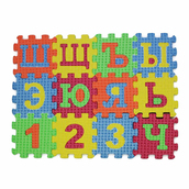 Коврик пазл Русский алфавит ицифры