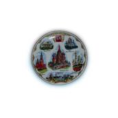 Тарелка с картинками москвы